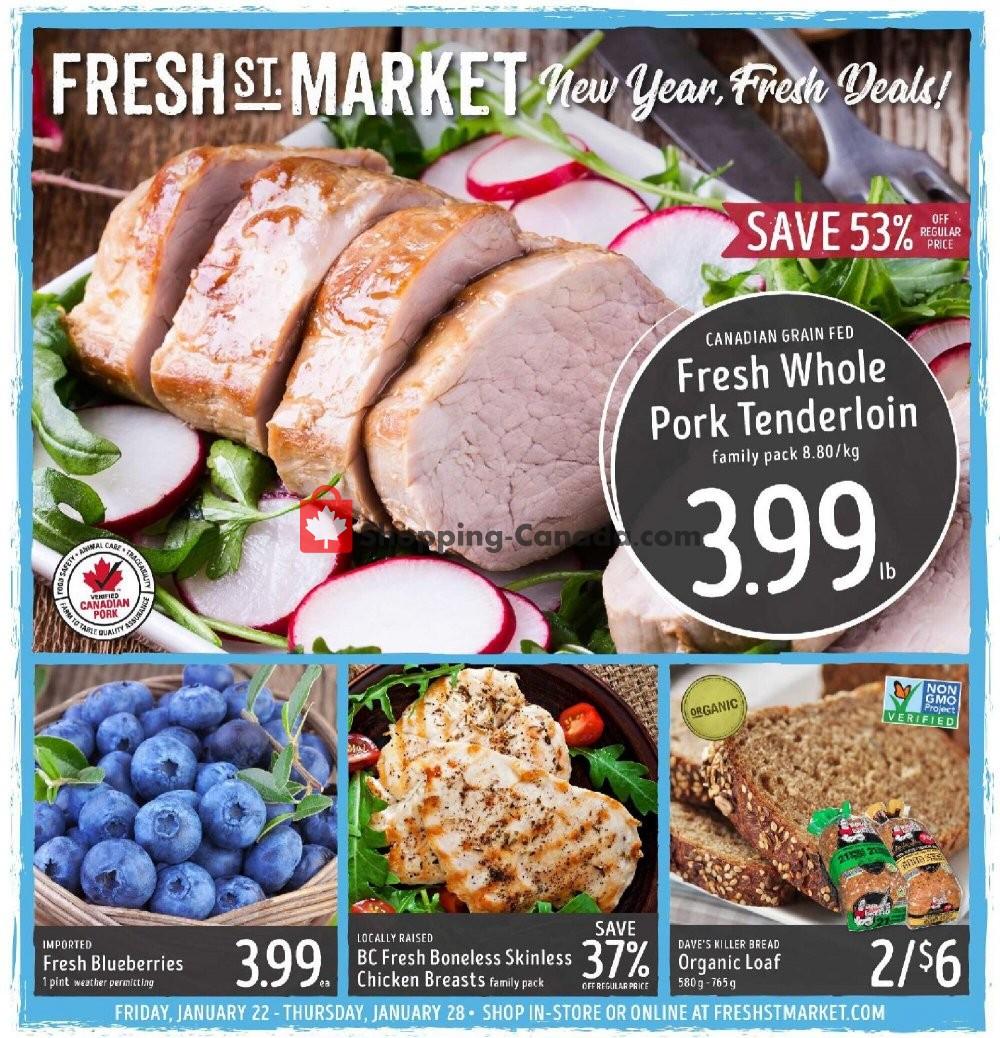 Flyer Fresh St. Market Canada - from Friday January 22, 2021 to Thursday January 28, 2021
