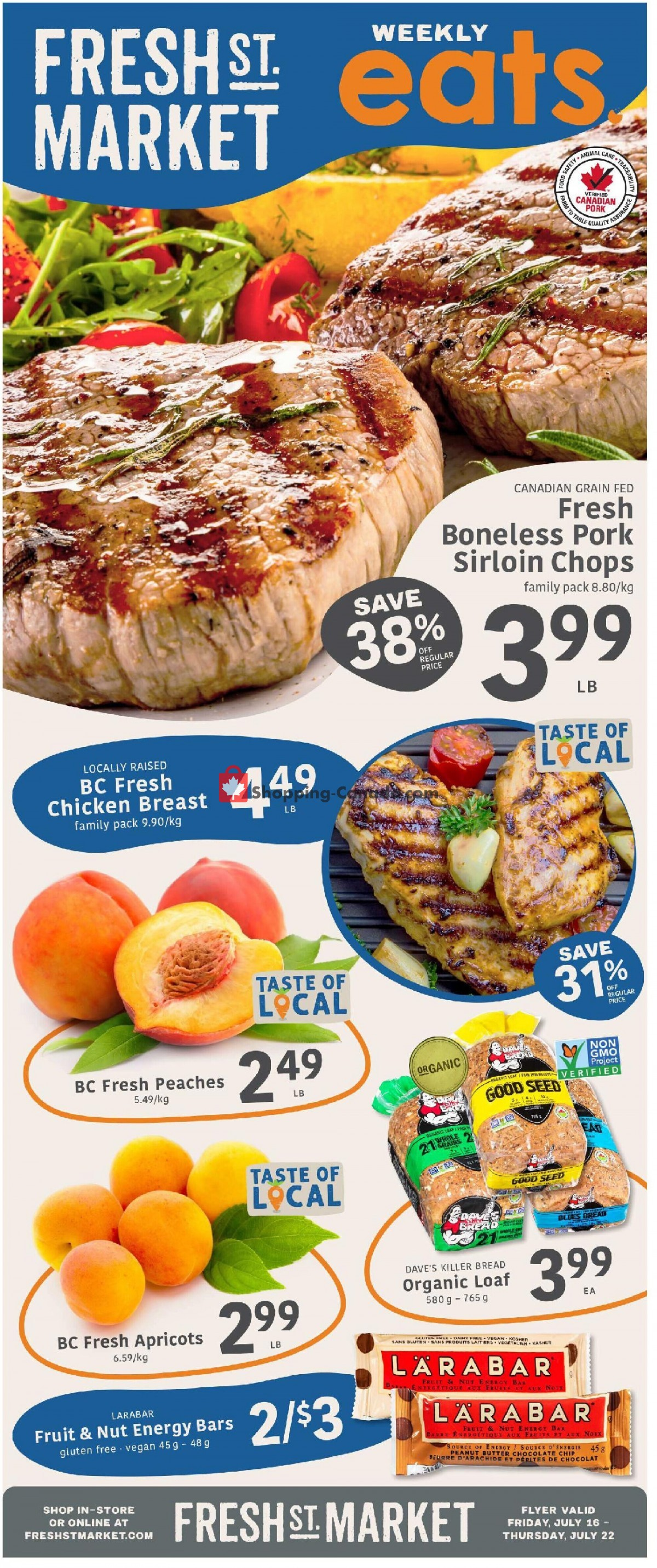 Flyer Fresh St. Market Canada - from Friday July 16, 2021 to Thursday July 22, 2021