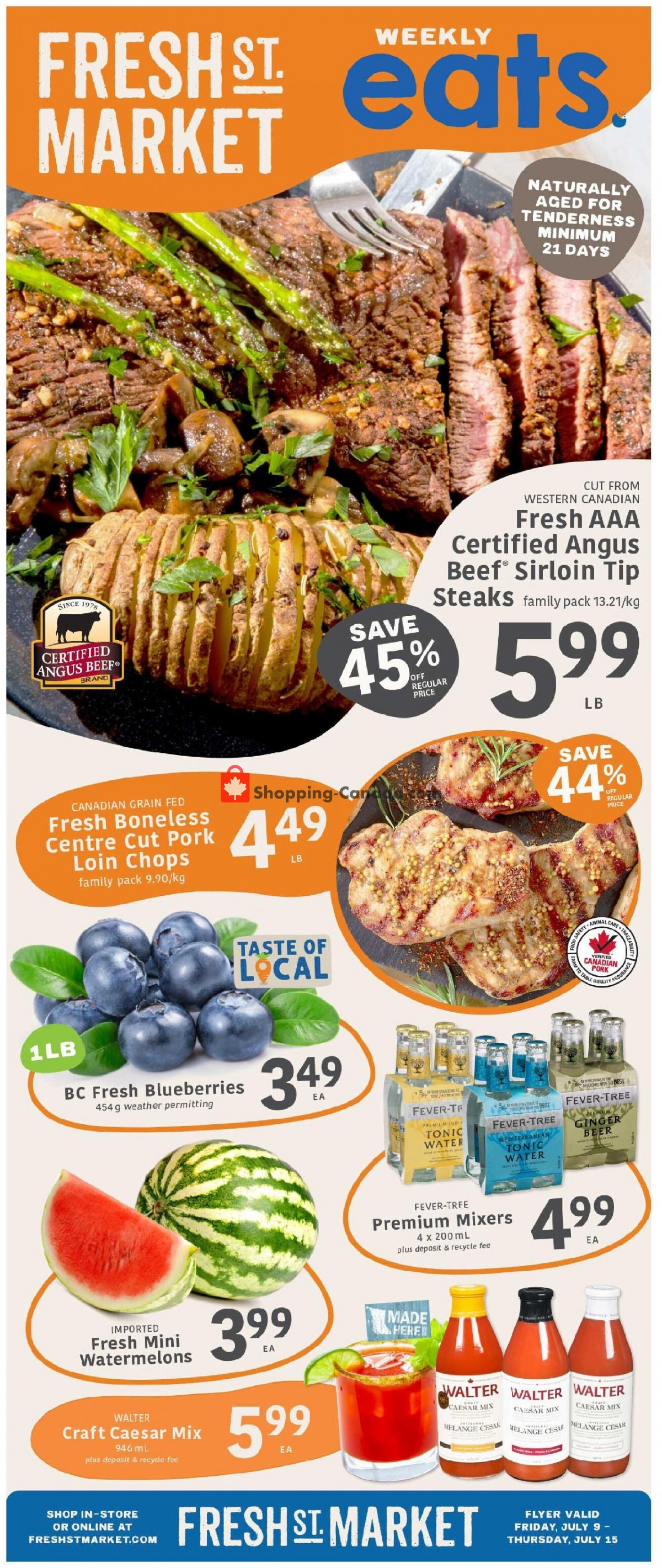 Flyer Fresh St. Market Canada - from Friday July 9, 2021 to Thursday July 15, 2021