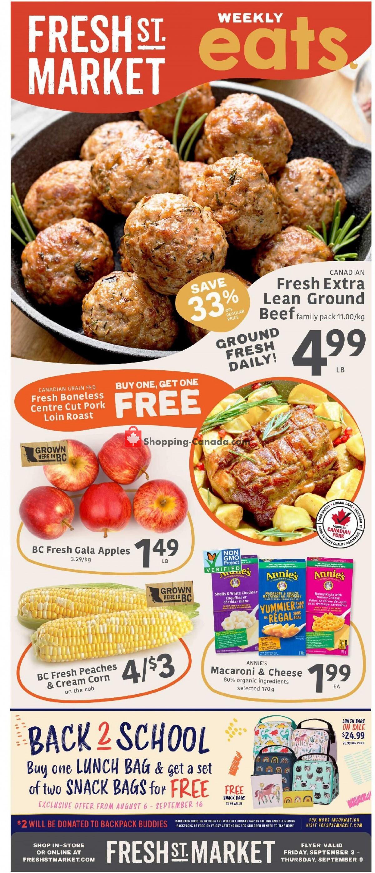 Flyer Fresh St. Market Canada - from Friday September 3, 2021 to Thursday September 9, 2021