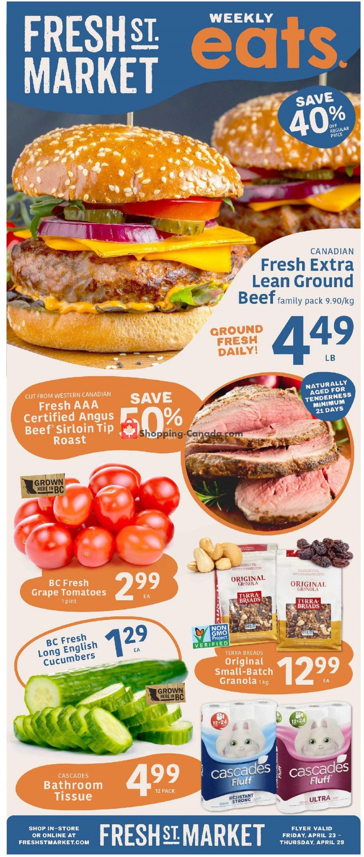 Flyer Fresh St. Market Canada - from Friday April 23, 2021 to Thursday April 29, 2021