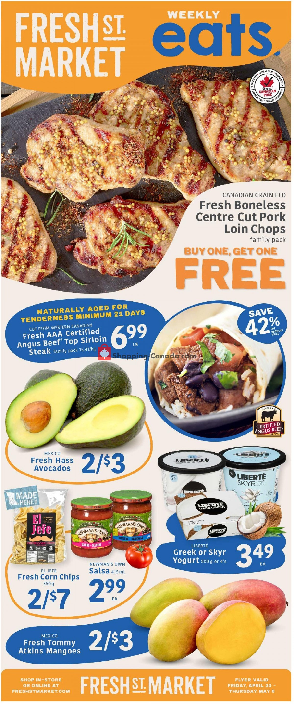 Flyer Fresh St. Market Canada - from Friday April 30, 2021 to Thursday May 6, 2021