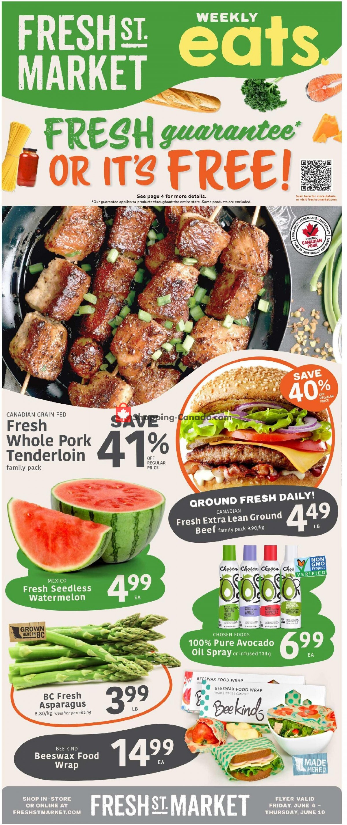 Flyer Fresh St. Market Canada - from Friday June 4, 2021 to Thursday June 10, 2021