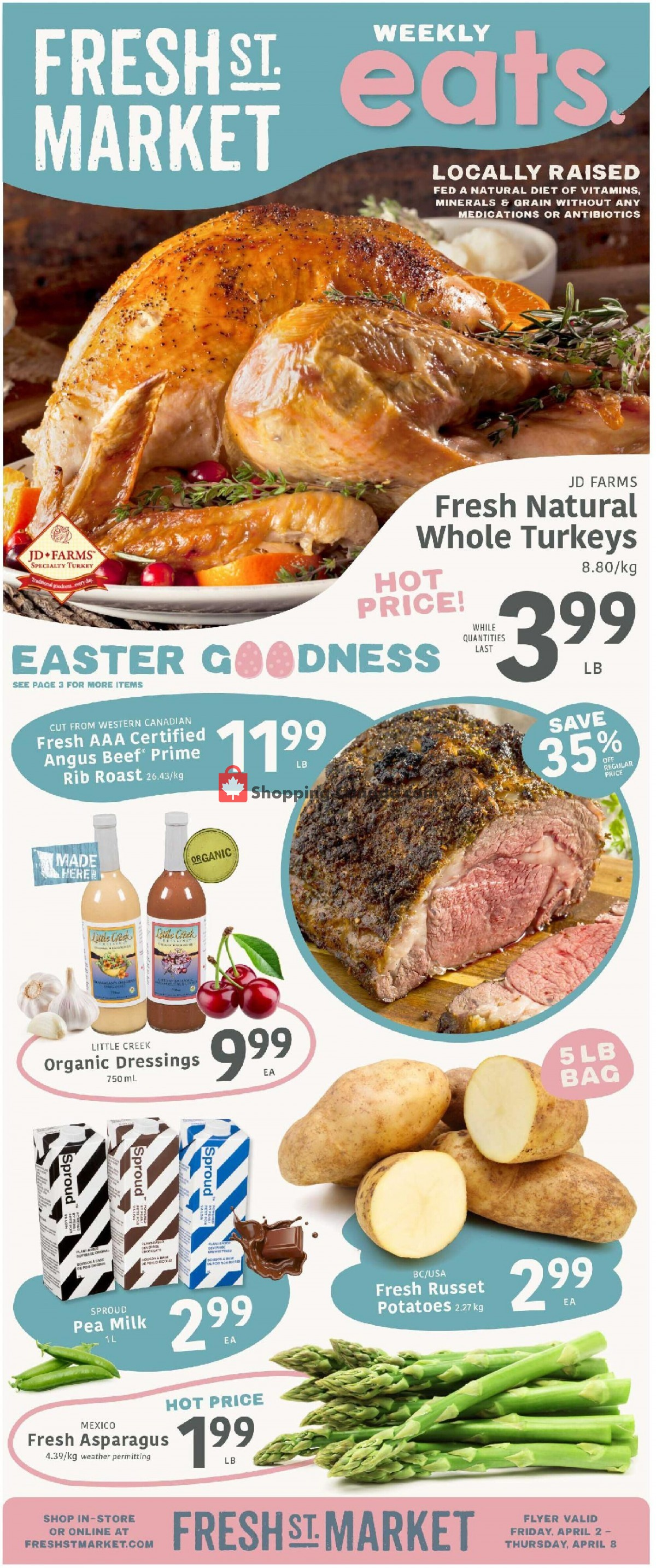 Flyer Fresh St. Market Canada - from Friday April 2, 2021 to Thursday April 8, 2021