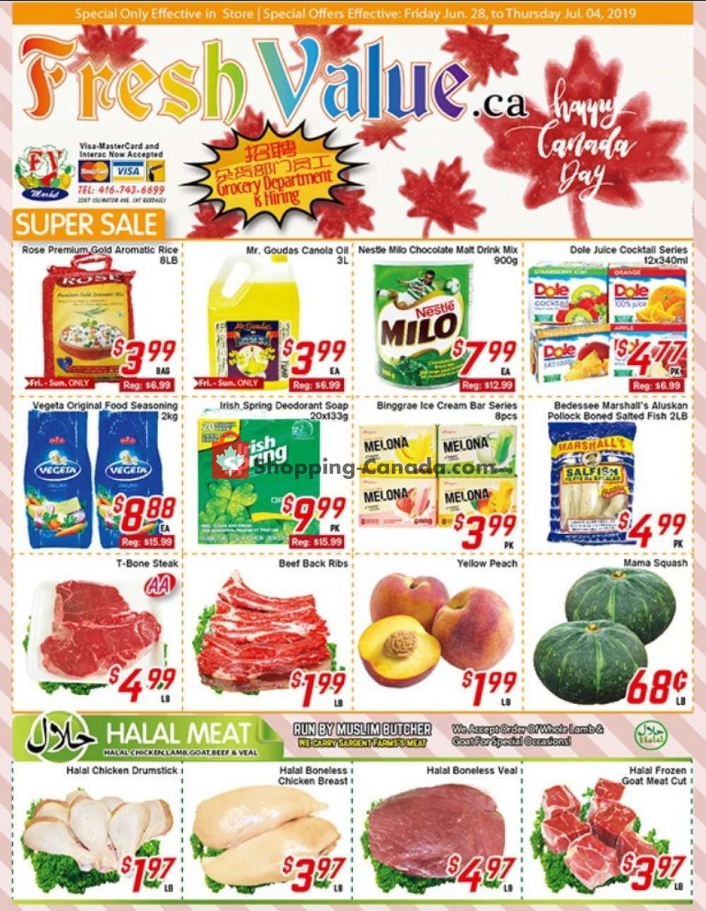 Flyer Fresh Value Canada - from Friday June 28, 2019 to Thursday July 4, 2019