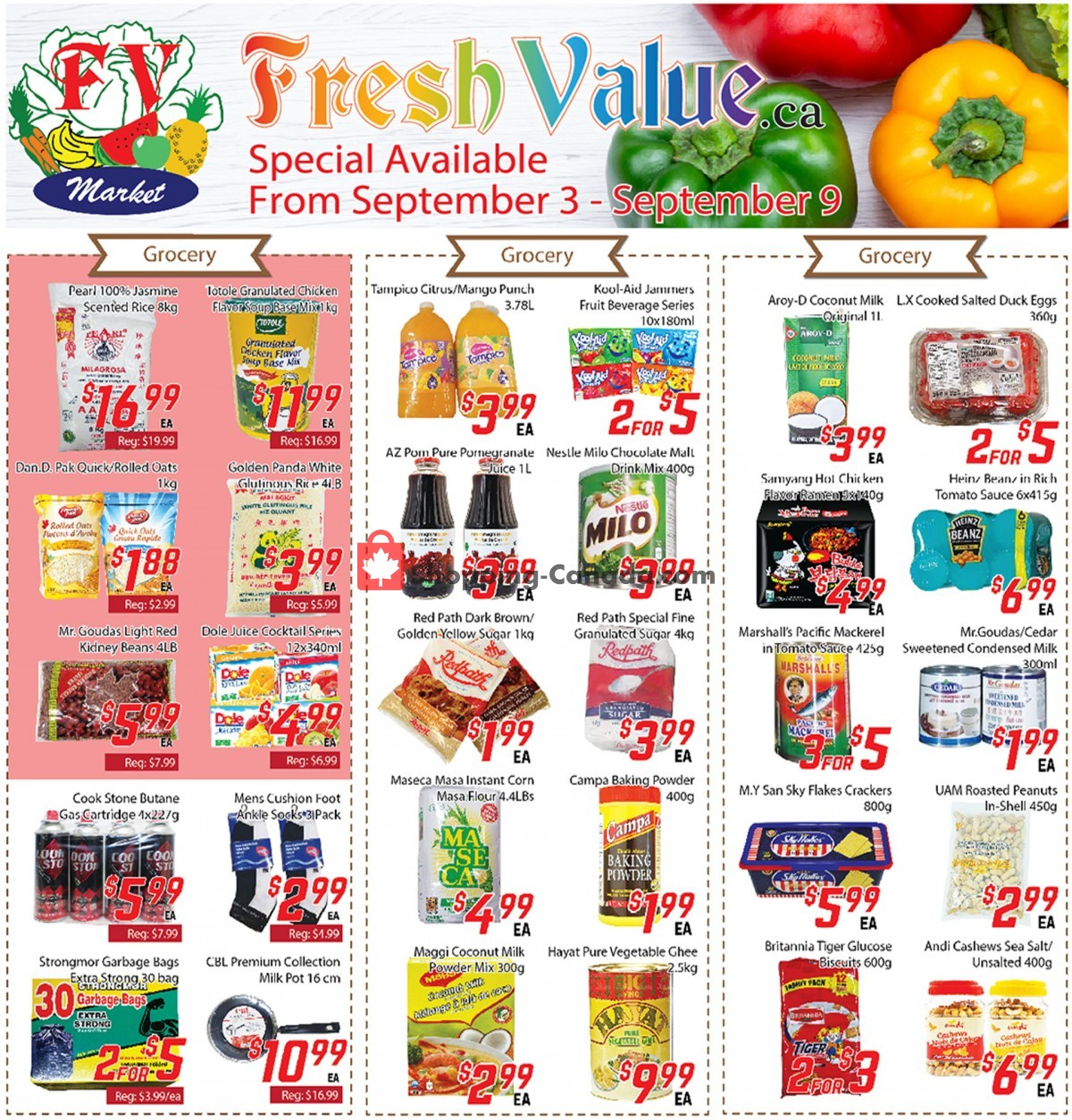 Flyer Fresh Value Canada - from Friday September 3, 2021 to Thursday September 9, 2021
