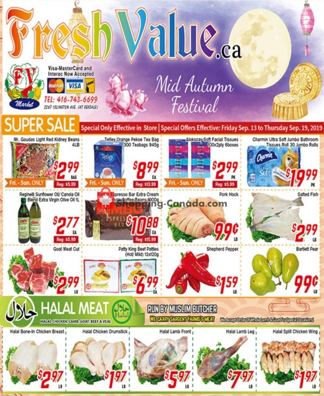 Flyer Fresh Value Canada - from Friday September 13, 2019 to Thursday September 19, 2019