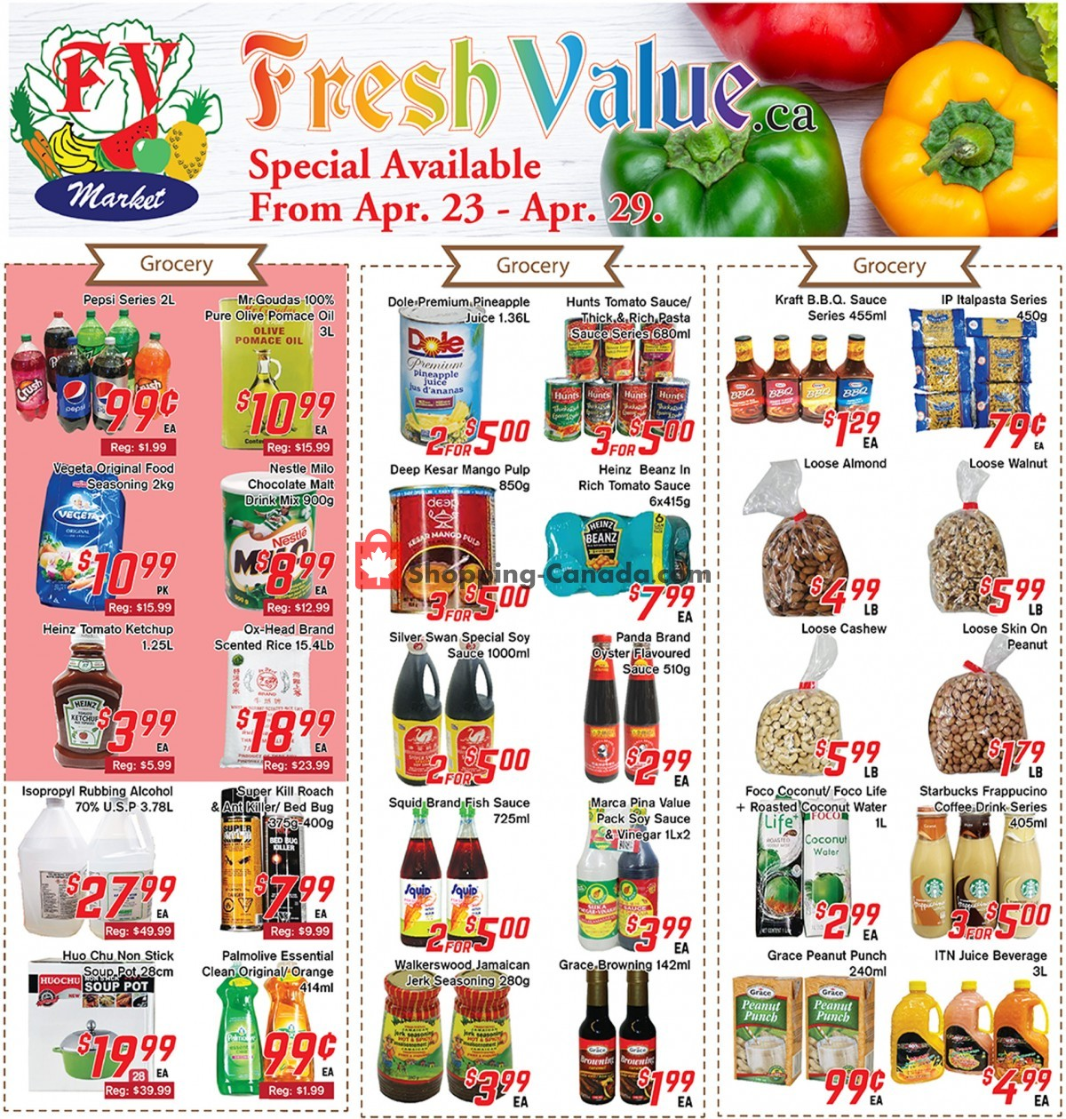 Flyer Fresh Value Canada - from Friday April 23, 2021 to Thursday April 29, 2021