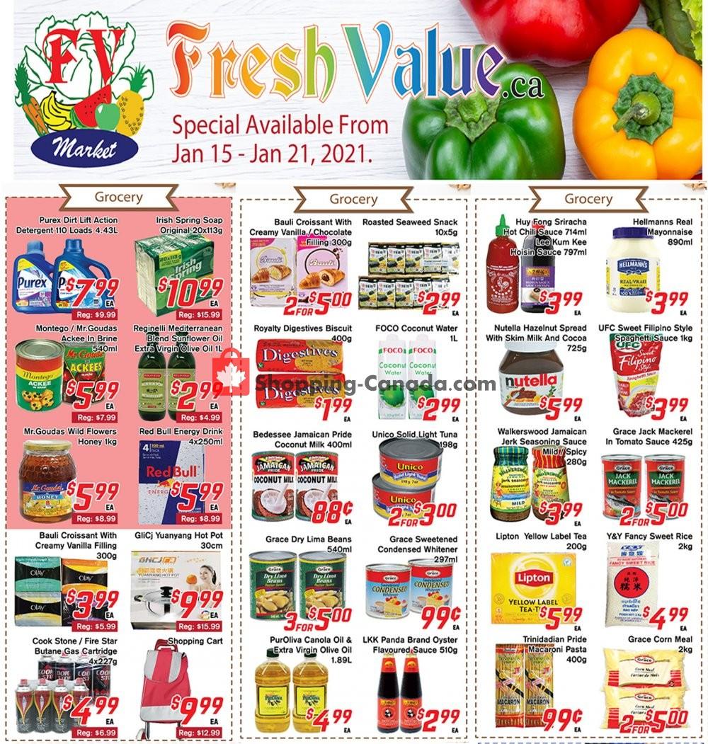 Flyer Fresh Value Canada - from Friday January 15, 2021 to Thursday January 21, 2021