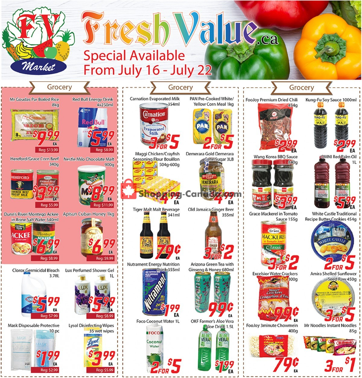Flyer Fresh Value Canada - from Friday July 16, 2021 to Thursday July 22, 2021