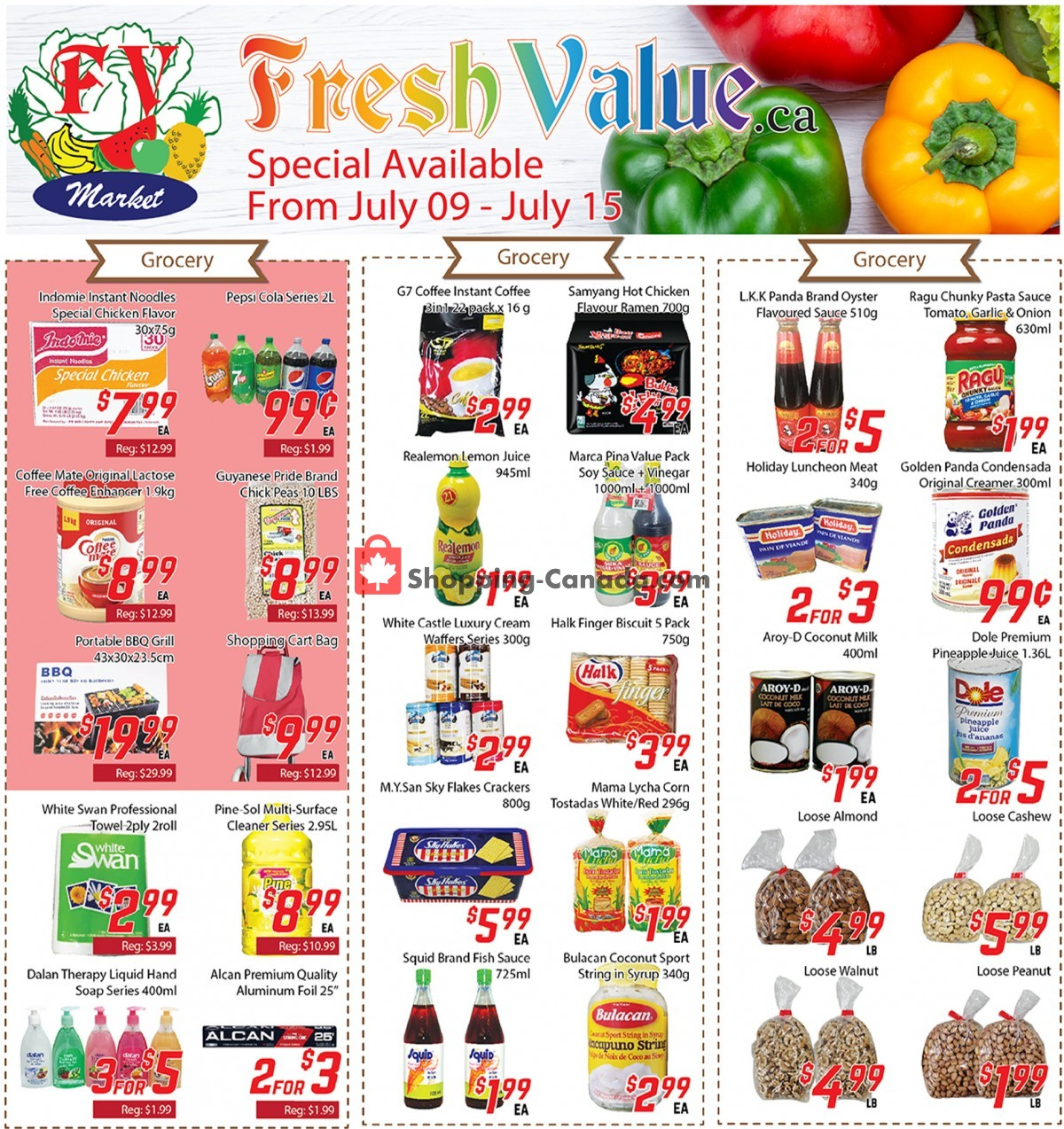 Flyer Fresh Value Canada - from Friday July 9, 2021 to Thursday July 15, 2021