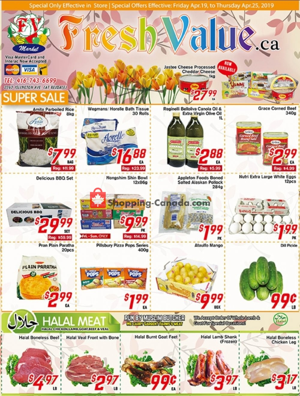 Flyer Fresh Value Canada - from Friday April 19, 2019 to Thursday April 25, 2019