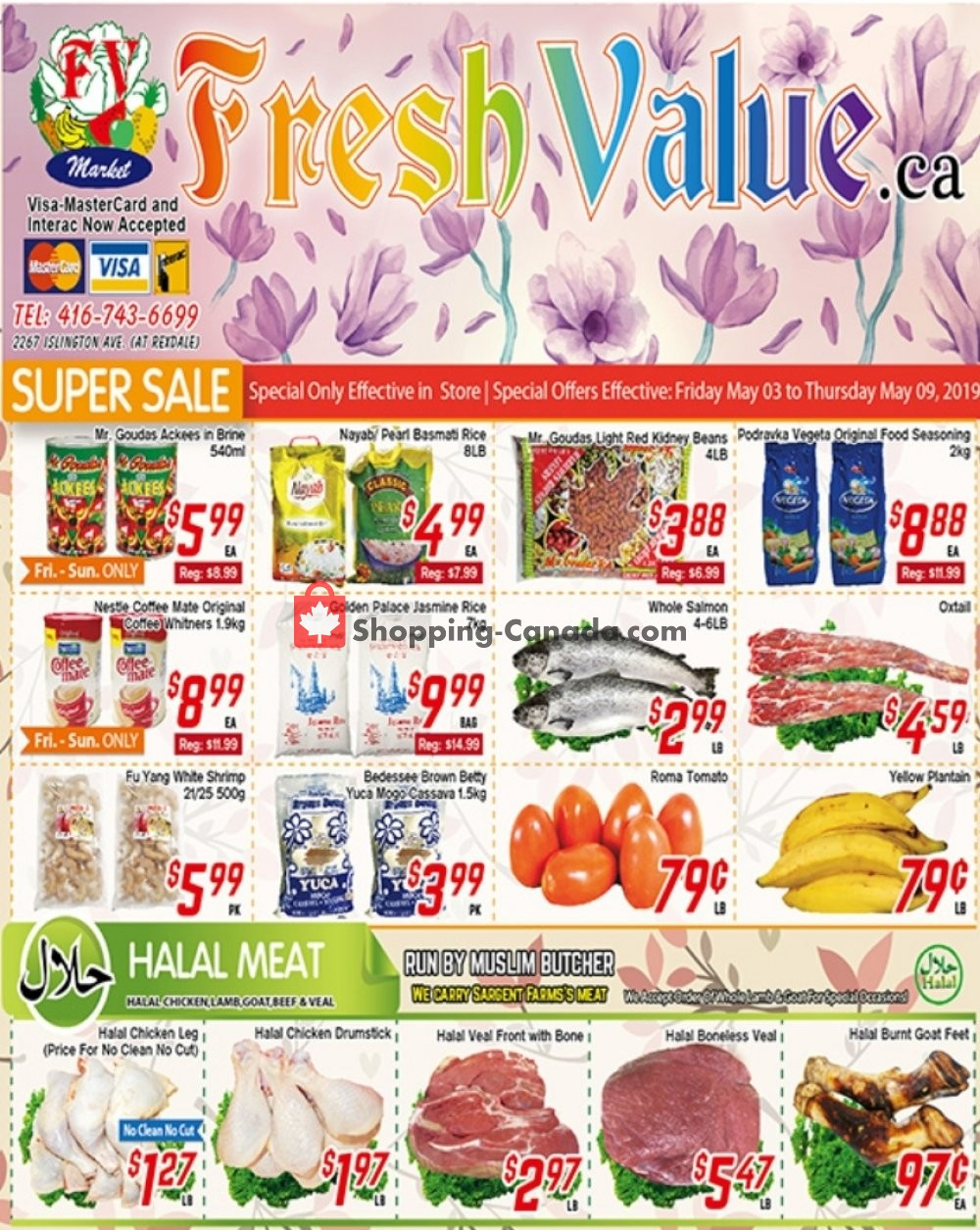 Flyer Fresh Value Canada - from Friday May 3, 2019 to Thursday May 9, 2019