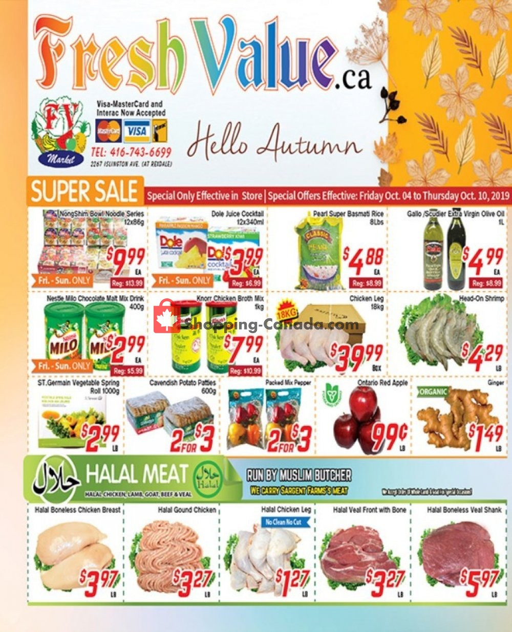 Flyer Fresh Value Canada - from Friday October 4, 2019 to Thursday October 10, 2019