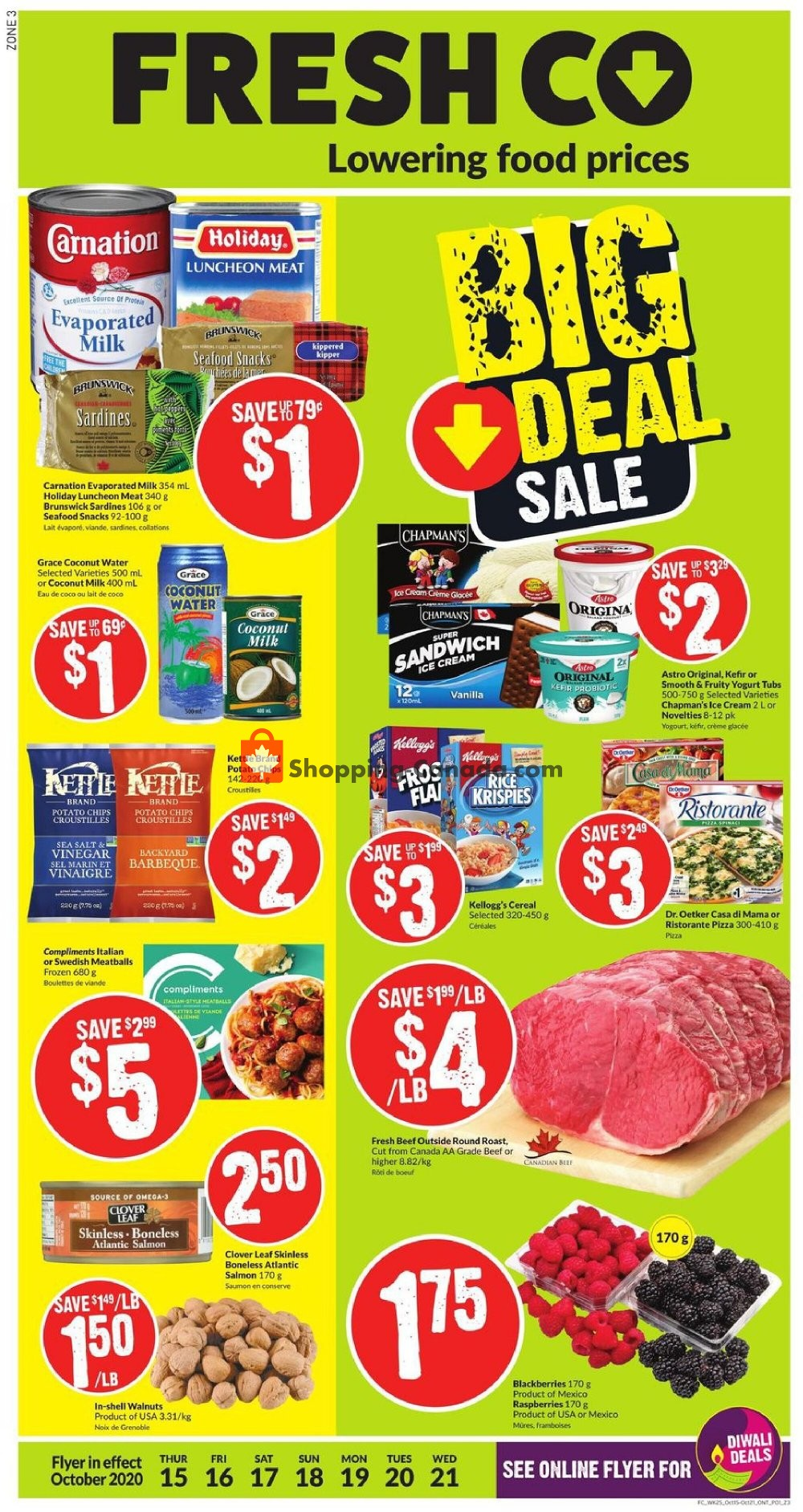 Flyer FreshCo Canada - from Thursday October 15, 2020 to Wednesday October 21, 2020