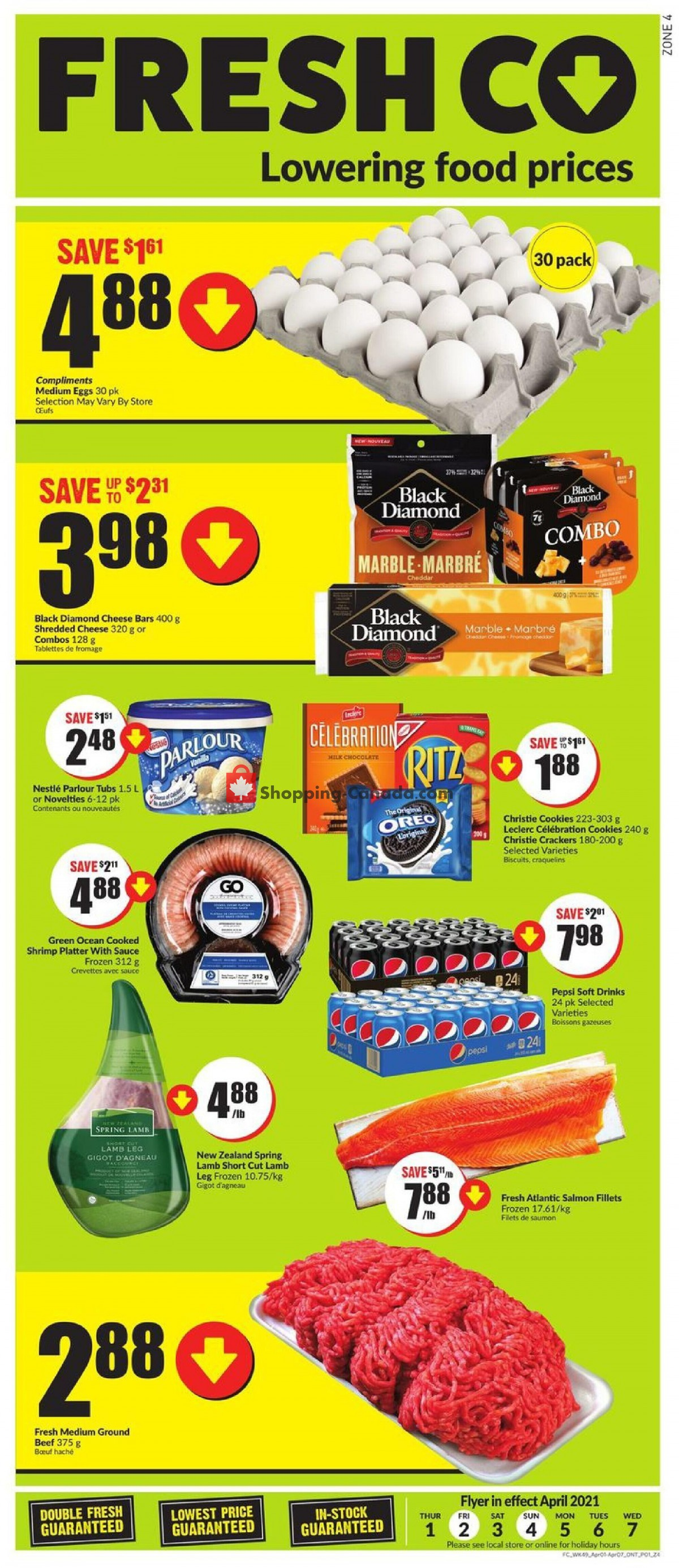 Flyer FreshCo Canada - from Thursday April 1, 2021 to Wednesday April 7, 2021