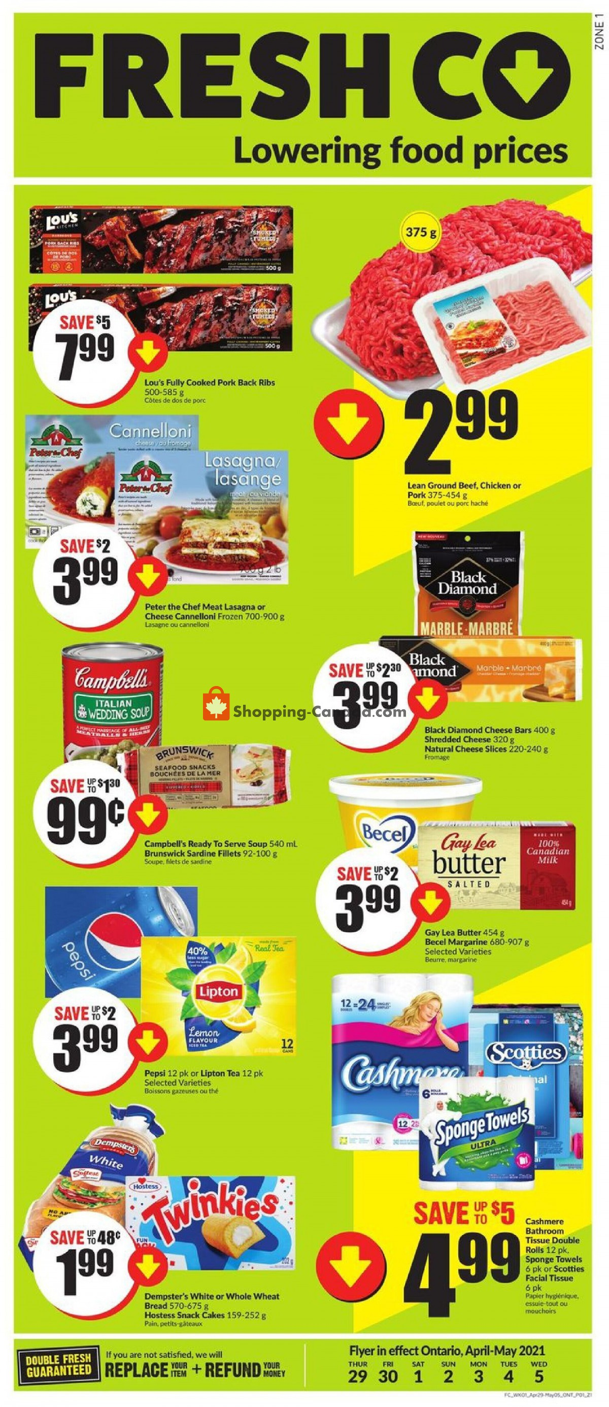 Flyer FreshCo Canada - from Thursday April 29, 2021 to Wednesday May 5, 2021