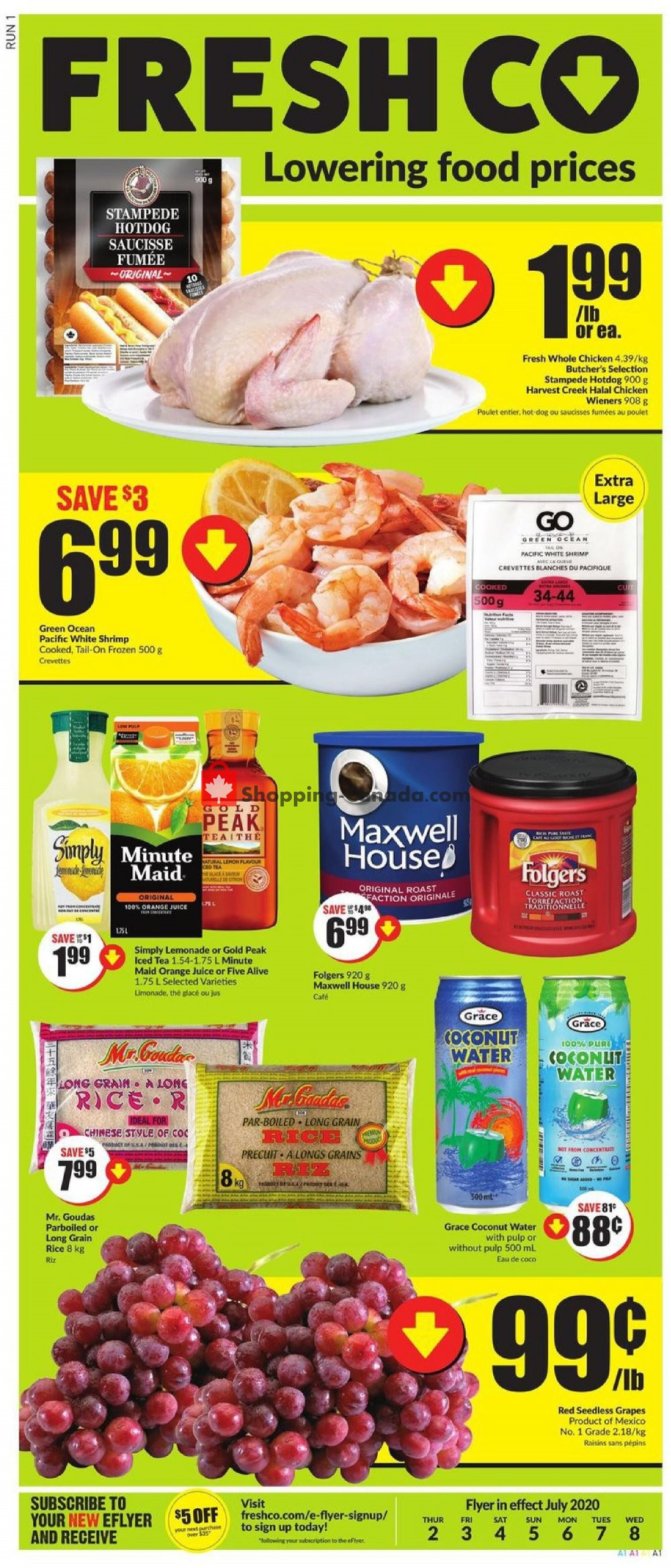 Flyer FreshCo Canada - from Thursday July 2, 2020 to Wednesday July 8, 2020