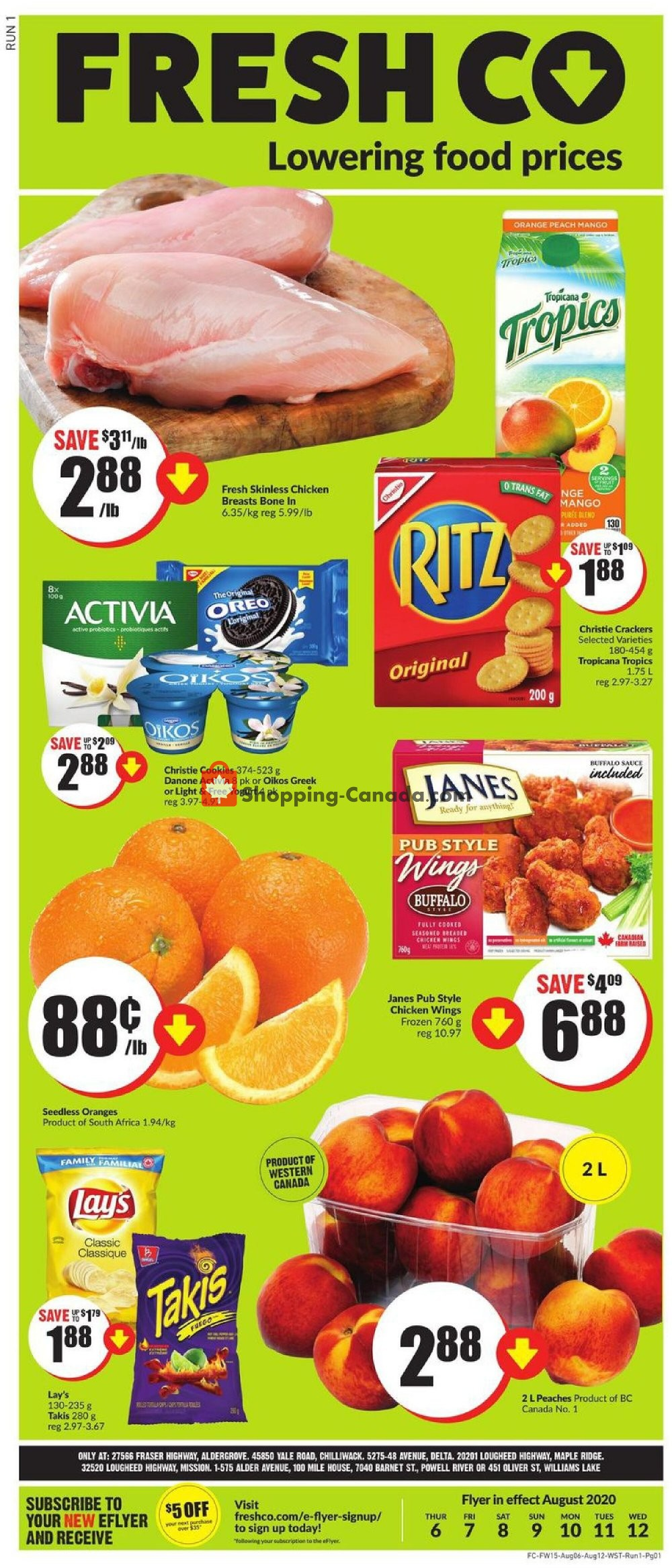 Flyer FreshCo Canada - from Thursday August 6, 2020 to Wednesday August 12, 2020