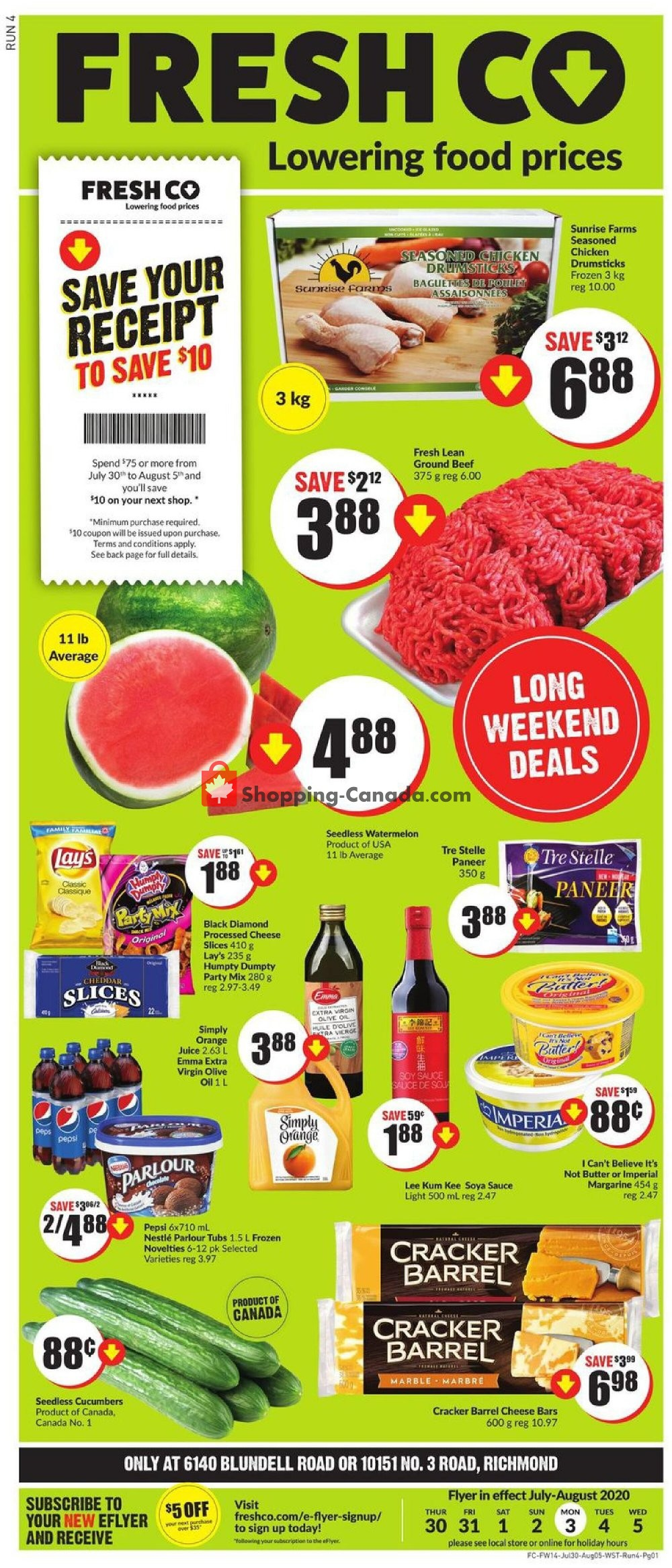 Flyer FreshCo Canada - from Thursday July 30, 2020 to Wednesday August 5, 2020