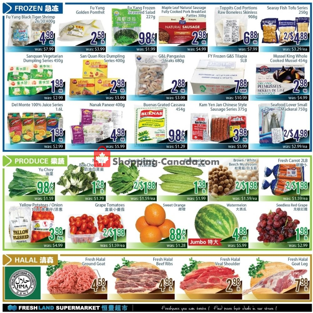 Flyer FreshLand Supermarket Canada - from Friday September 6, 2019 to Thursday September 12, 2019