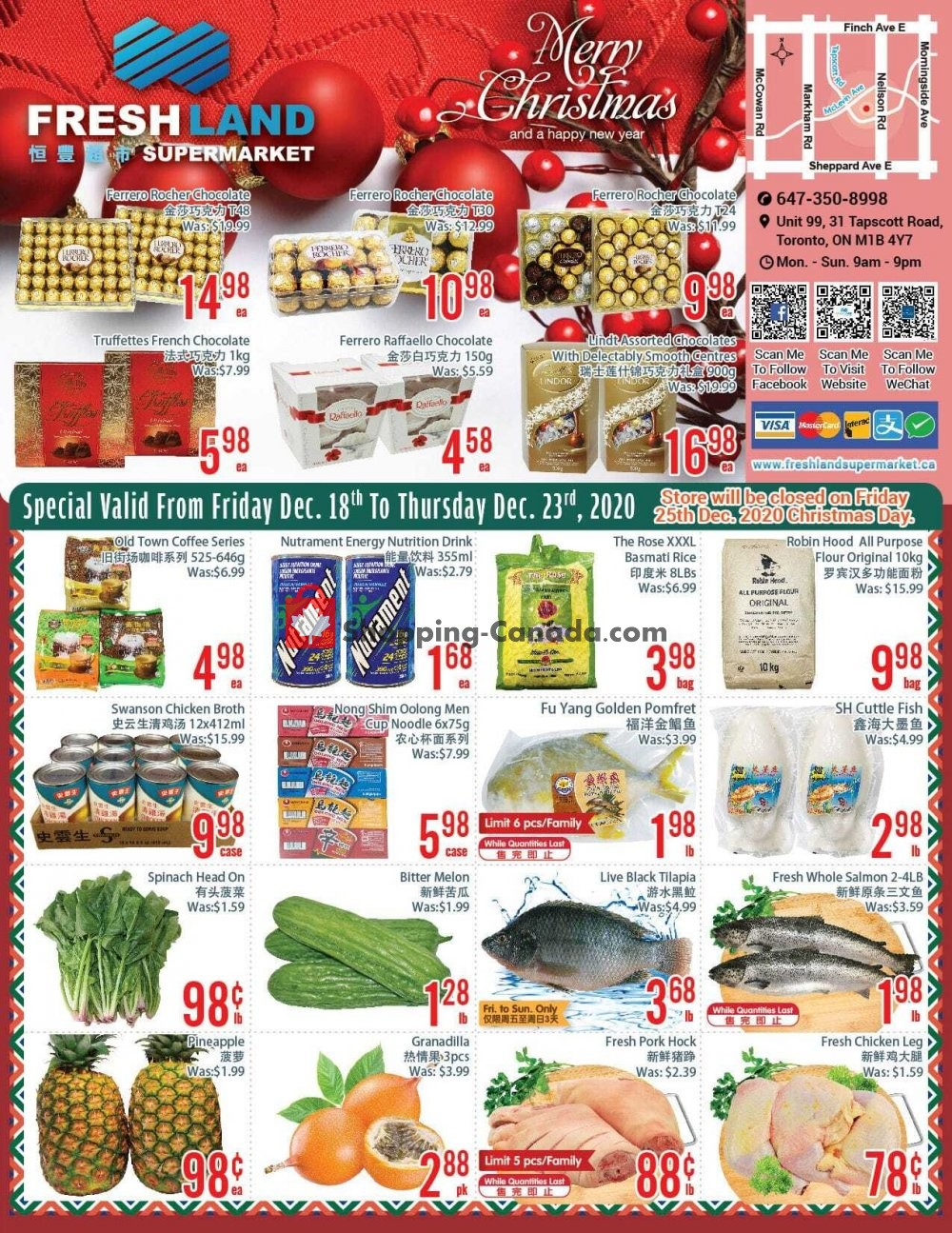 Flyer FreshLand Supermarket Canada - from Friday December 18, 2020 to Wednesday December 23, 2020