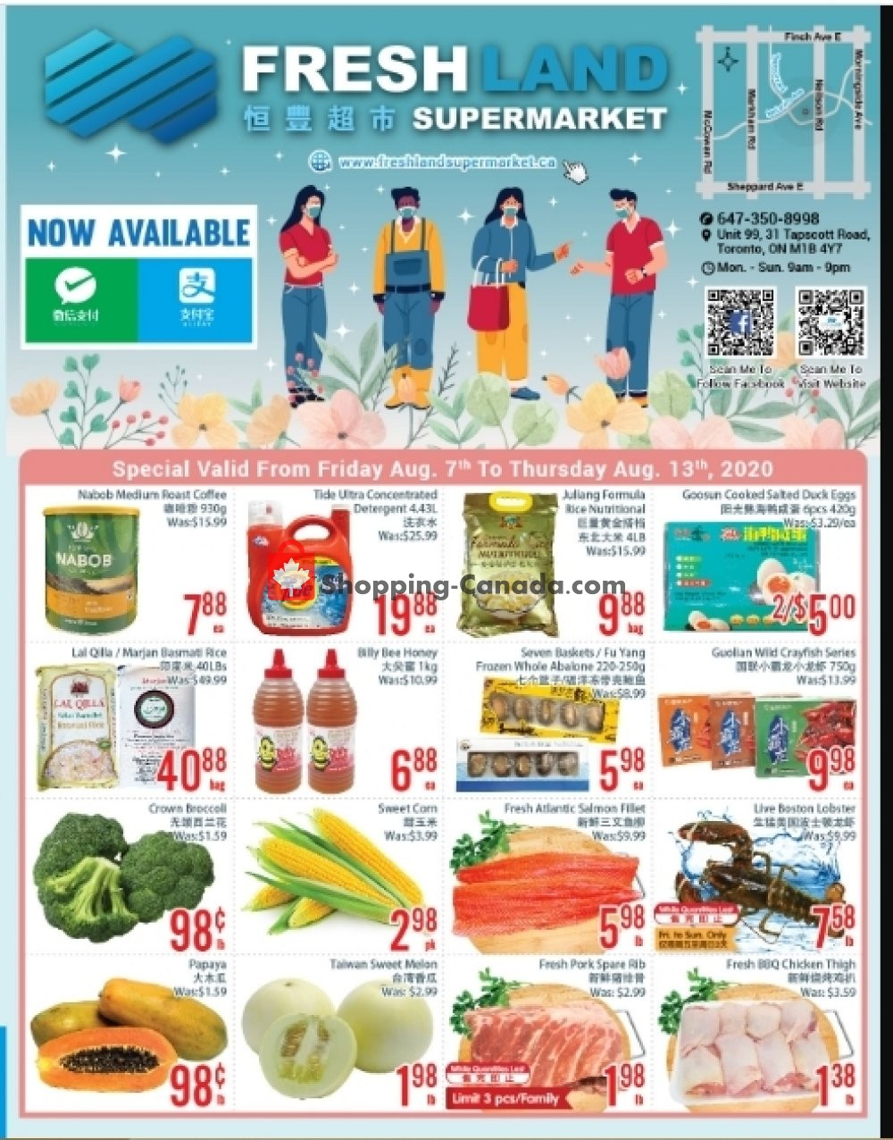 Flyer FreshLand Supermarket Canada - from Friday August 7, 2020 to Thursday August 13, 2020