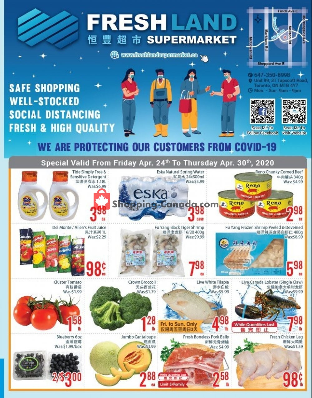 Flyer FreshLand Supermarket Canada - from Friday April 24, 2020 to Thursday April 30, 2020