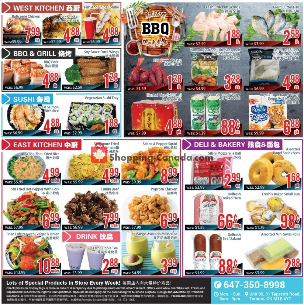 Flyer FreshLand Supermarket Canada - from Friday August 9, 2019 to Thursday August 15, 2019