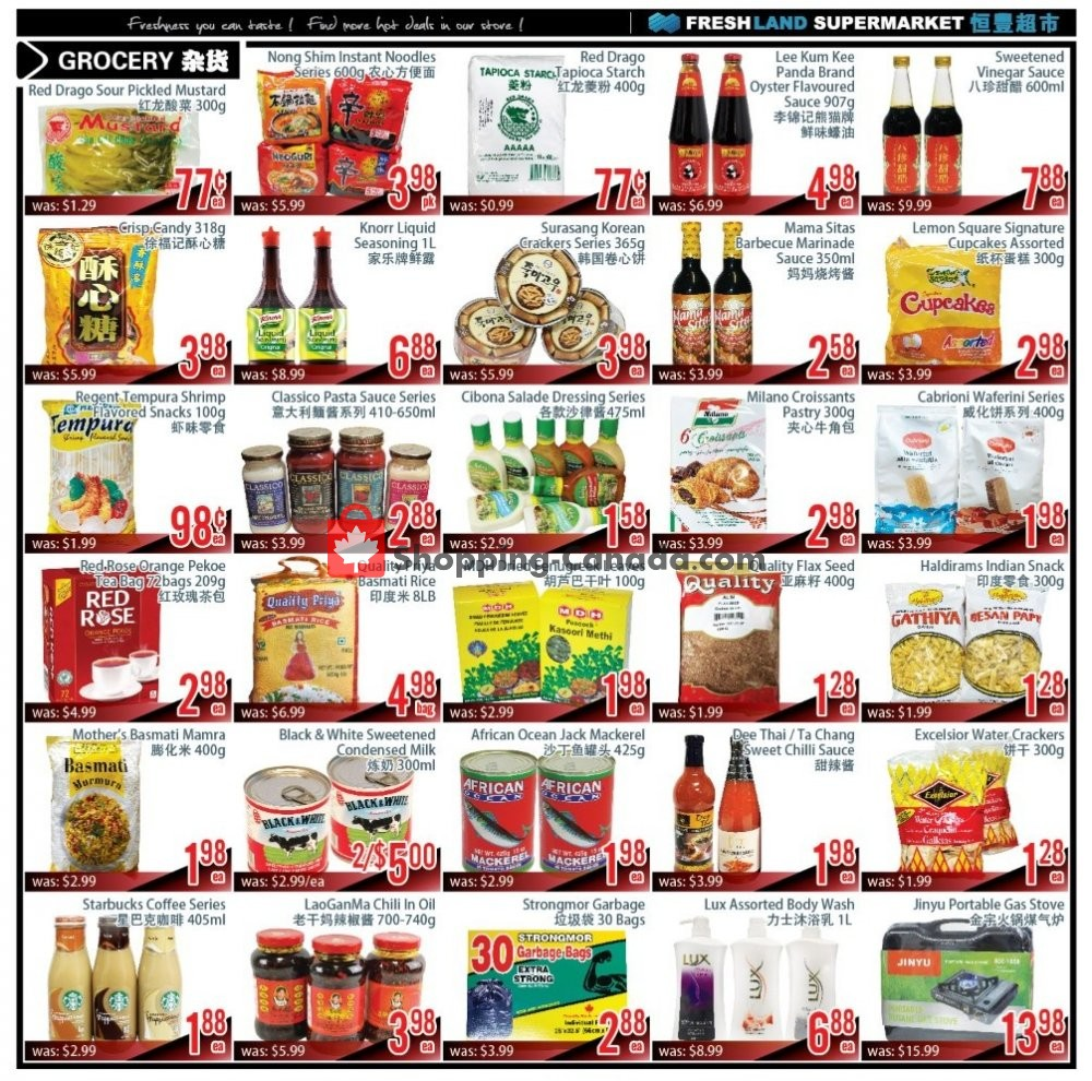 Flyer FreshLand Supermarket Canada - from Friday January 10, 2020 to Thursday January 16, 2020
