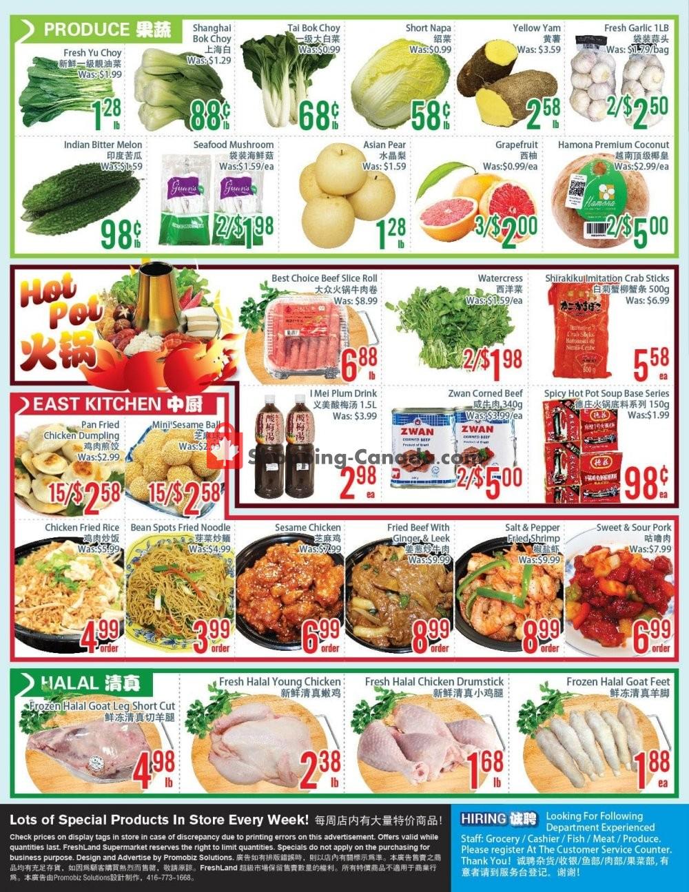 Flyer FreshLand Supermarket Canada - from Friday January 15, 2021 to Thursday January 21, 2021