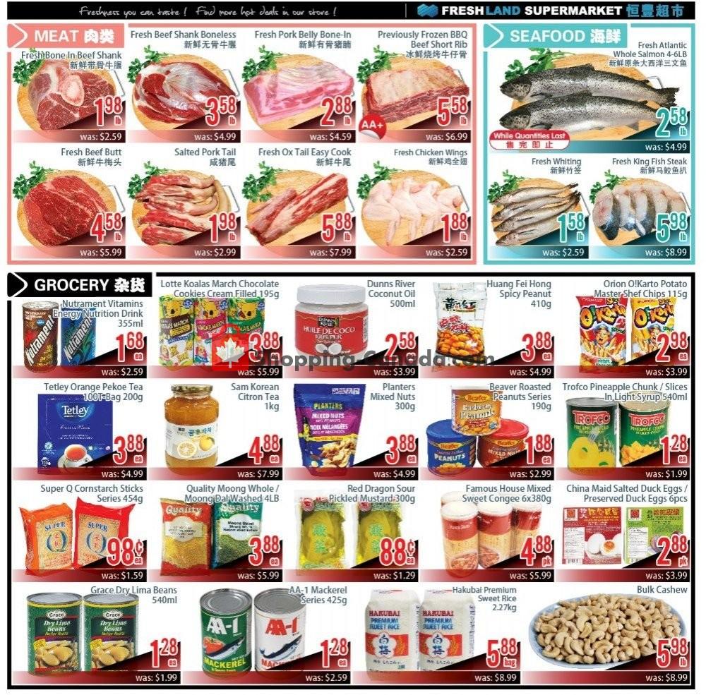 Flyer FreshLand Supermarket Canada - from Friday July 19, 2019 to Thursday July 25, 2019