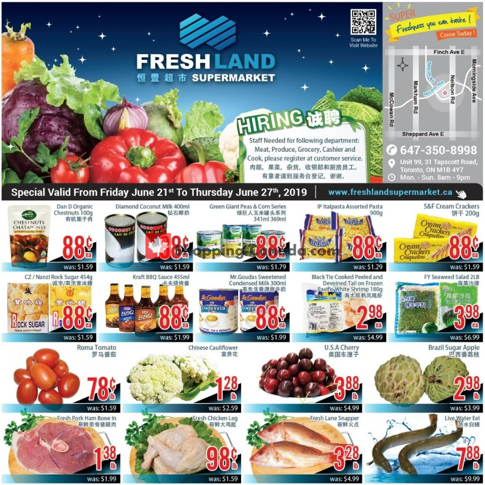 Flyer FreshLand Supermarket Canada - from Friday June 21, 2019 to Thursday June 27, 2019