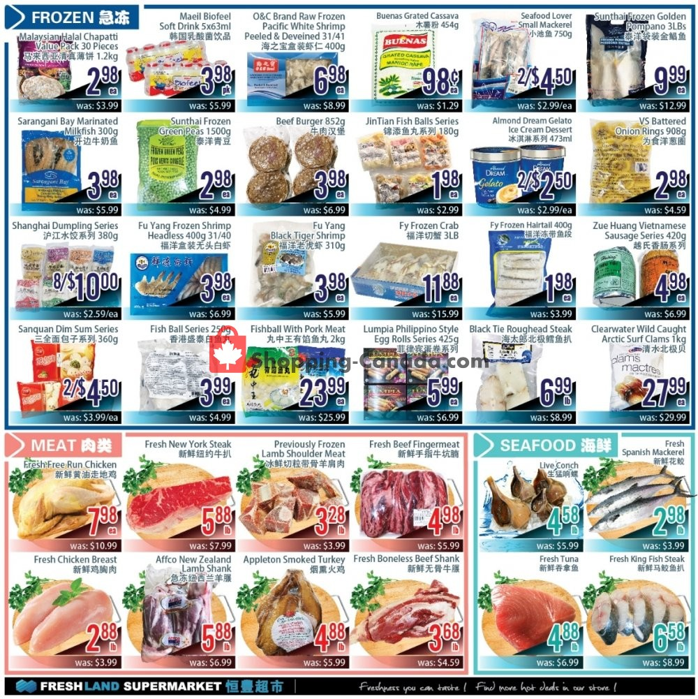 Flyer FreshLand Supermarket Canada - from Friday November 8, 2019 to Thursday November 14, 2019