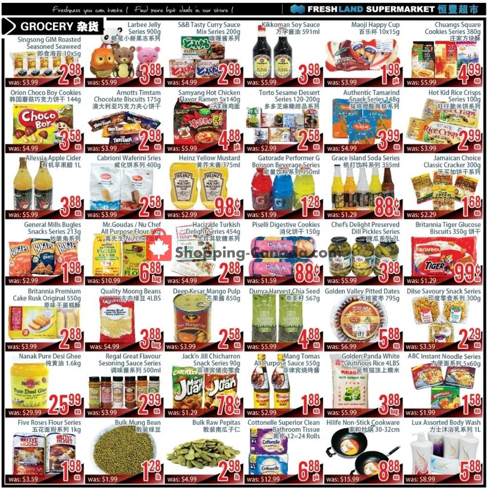 Flyer FreshLand Supermarket Canada - from Friday November 8, 2019 to Thursday November 14, 2019