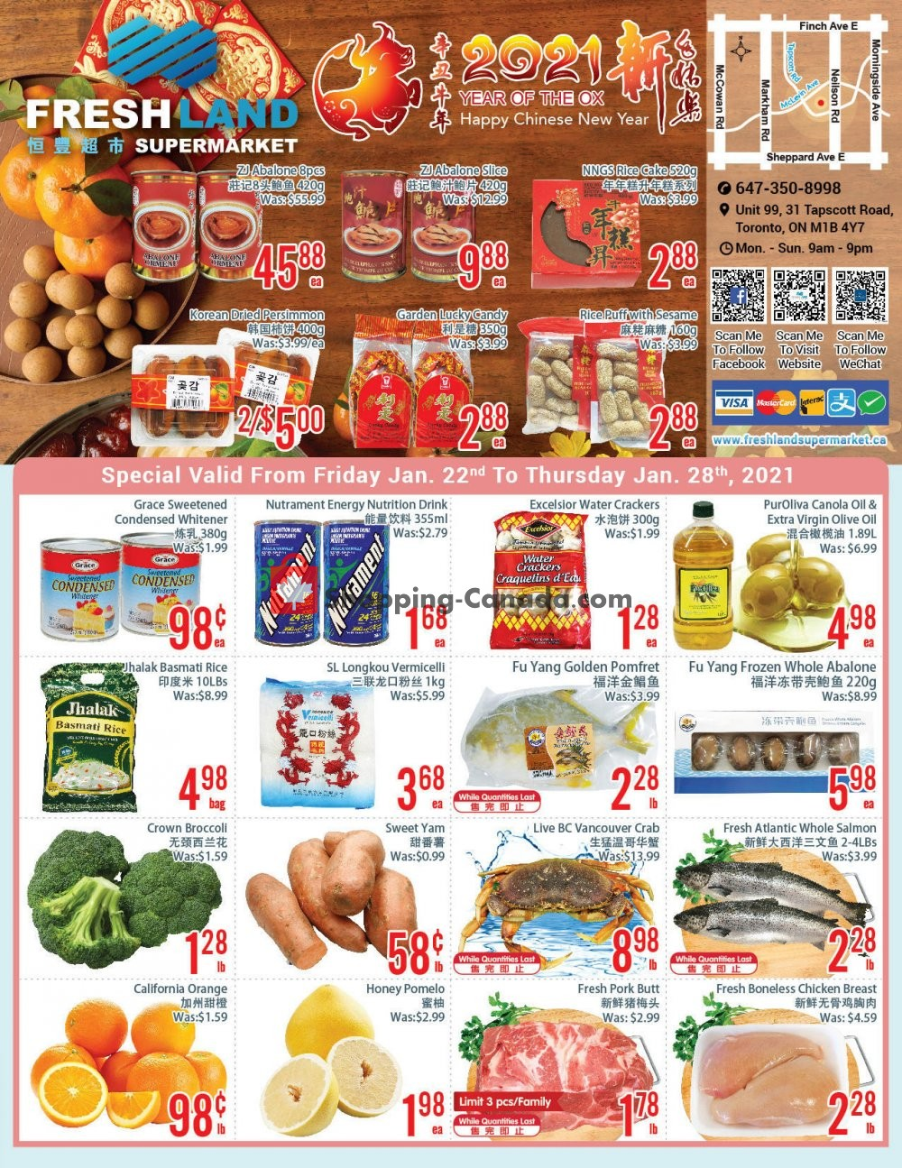 Flyer FreshLand Supermarket Canada - from Friday January 22, 2021 to Thursday January 28, 2021