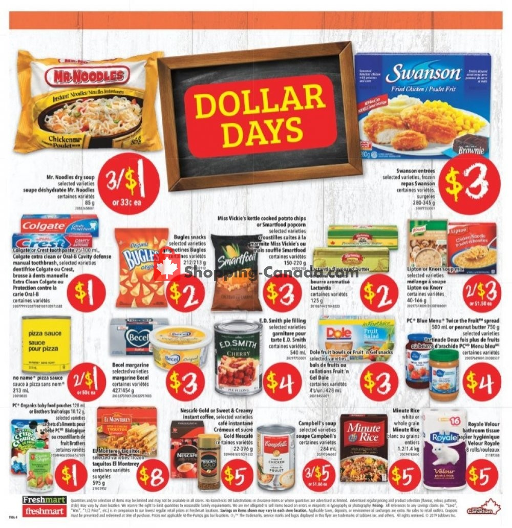 Flyer Freshmart Canada - from Thursday September 5, 2019 to Wednesday September 11, 2019