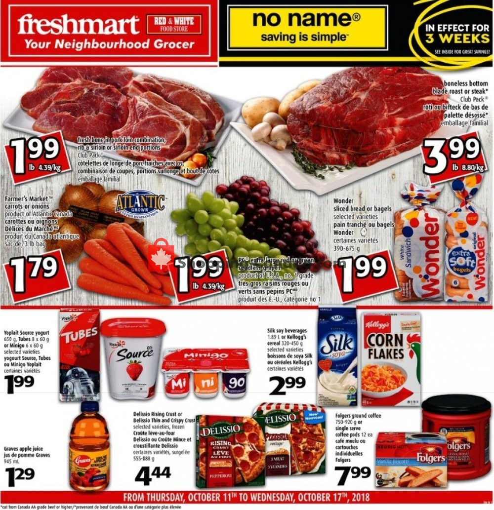 Flyer Freshmart Canada - from Thursday October 11, 2018 to Wednesday October 17, 2018