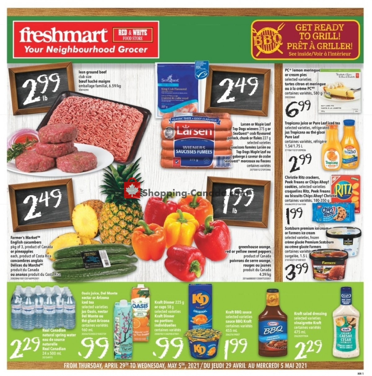 Flyer Freshmart Canada - from Thursday April 29, 2021 to Wednesday May 5, 2021
