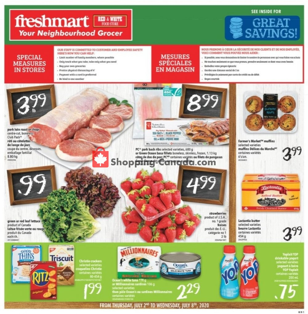 Flyer Freshmart Canada - from Thursday July 2, 2020 to Wednesday July 8, 2020