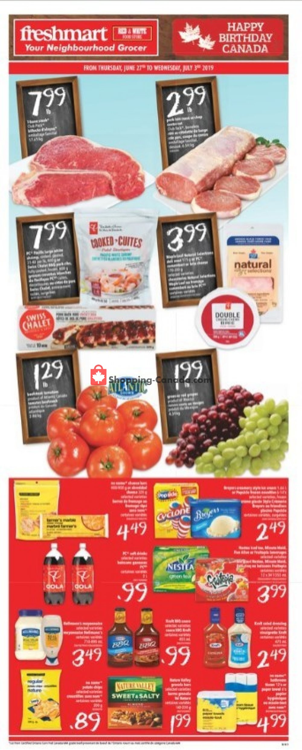 Flyer Freshmart Canada - from Thursday June 27, 2019 to Wednesday July 3, 2019