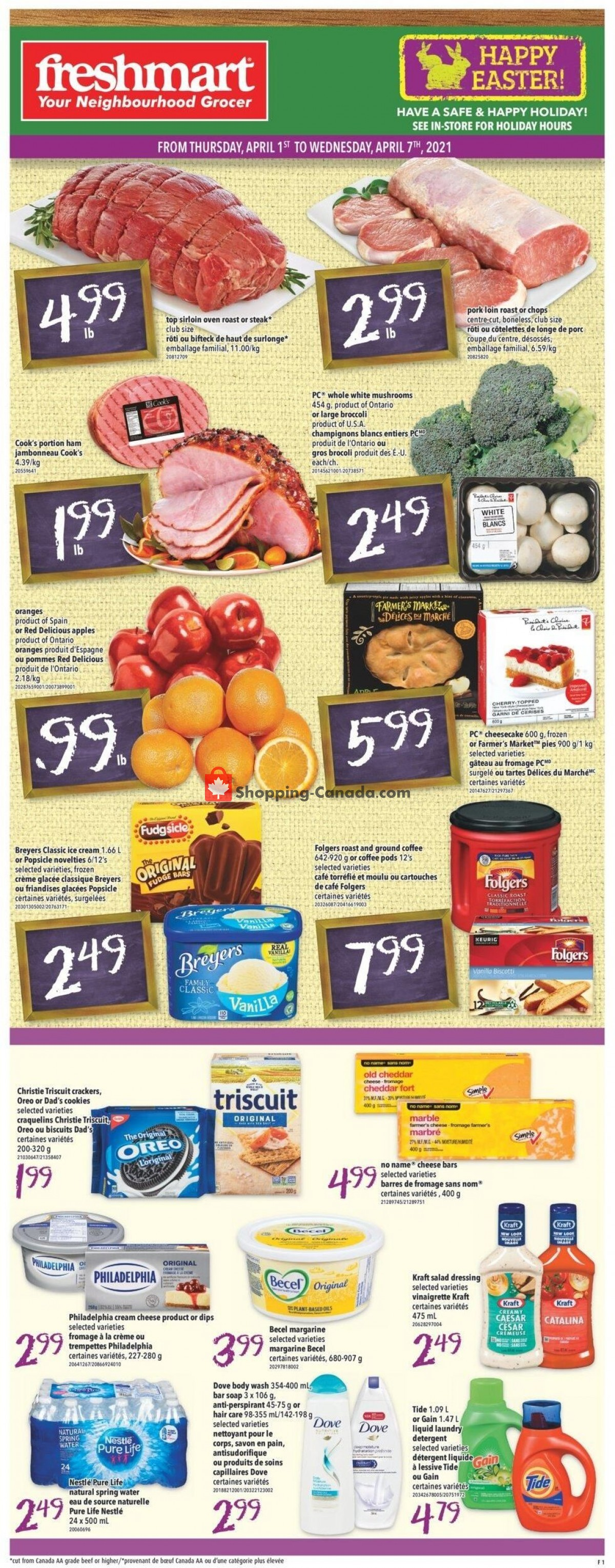 Flyer Freshmart Canada - from Thursday April 1, 2021 to Wednesday April 7, 2021