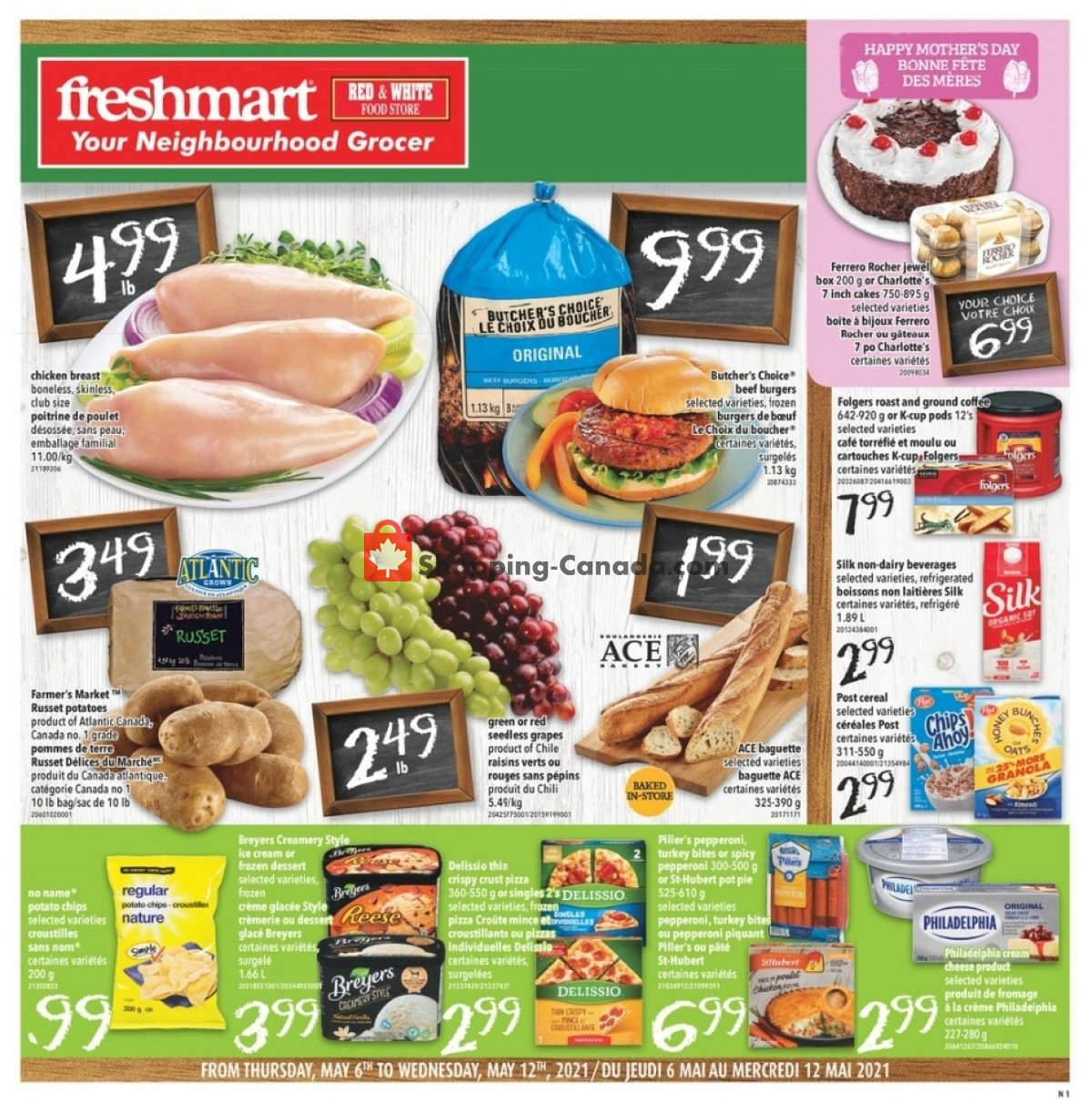 Flyer Freshmart Canada - from Thursday May 6, 2021 to Wednesday May 12, 2021