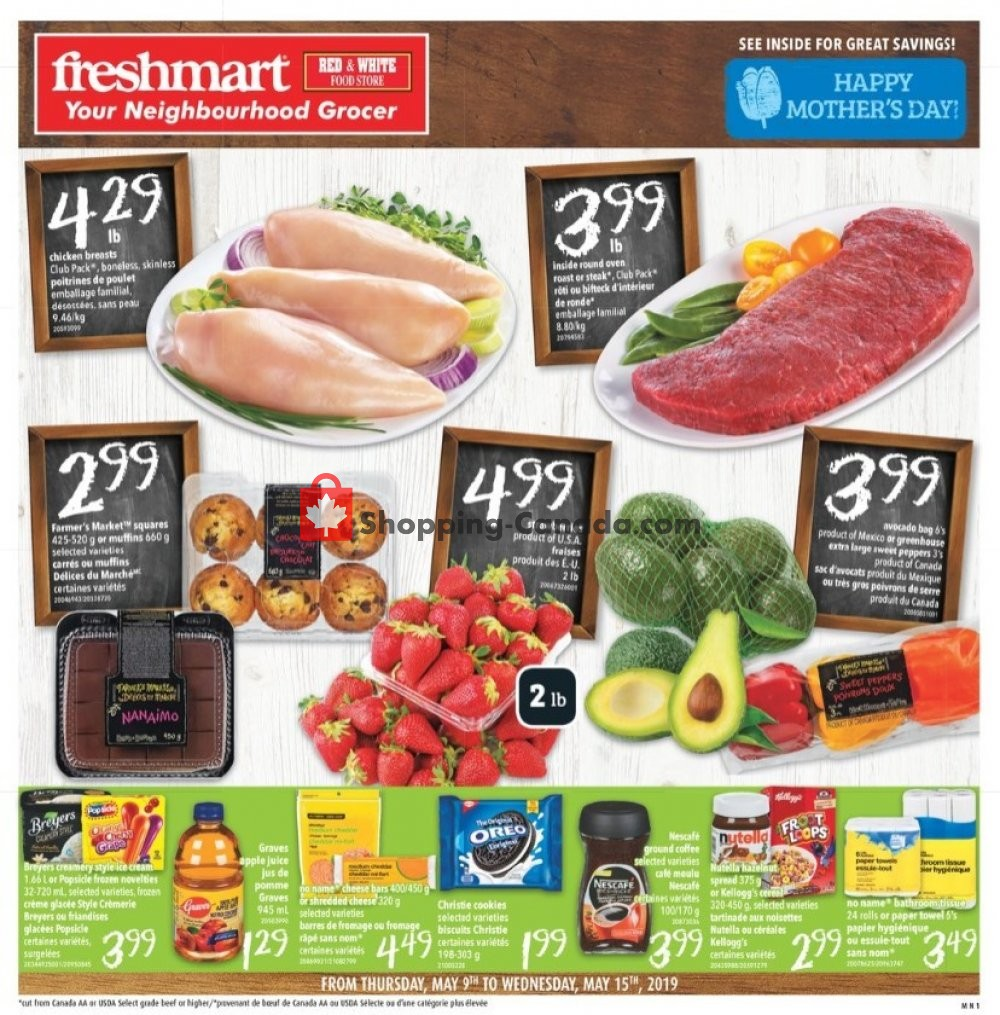 Flyer Freshmart Canada - from Thursday May 9, 2019 to Wednesday May 15, 2019