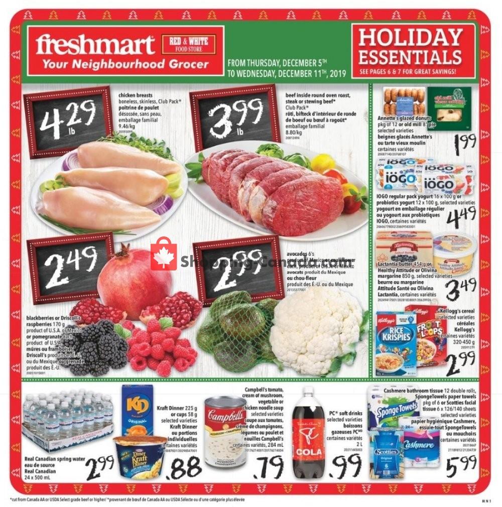 Flyer Freshmart Canada - from Thursday December 5, 2019 to Wednesday December 11, 2019