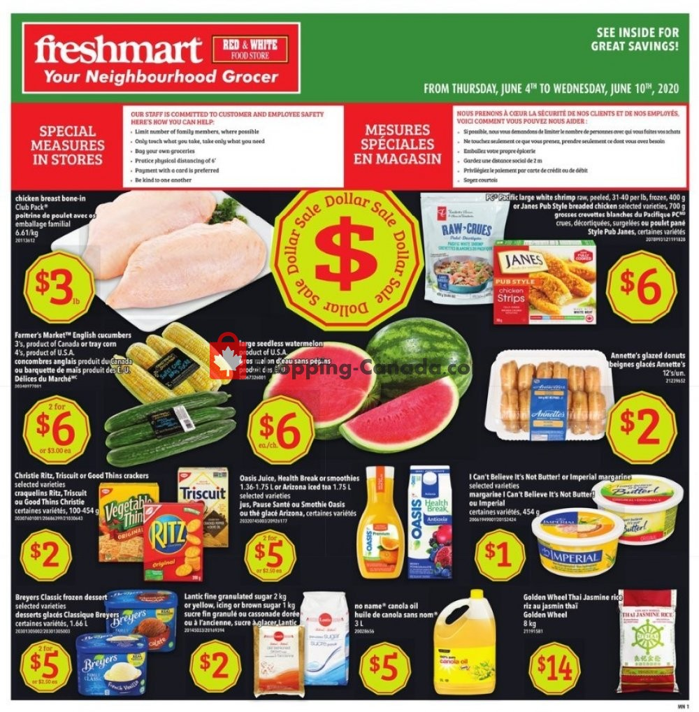Flyer Freshmart Canada - from Thursday June 4, 2020 to Wednesday June 10, 2020