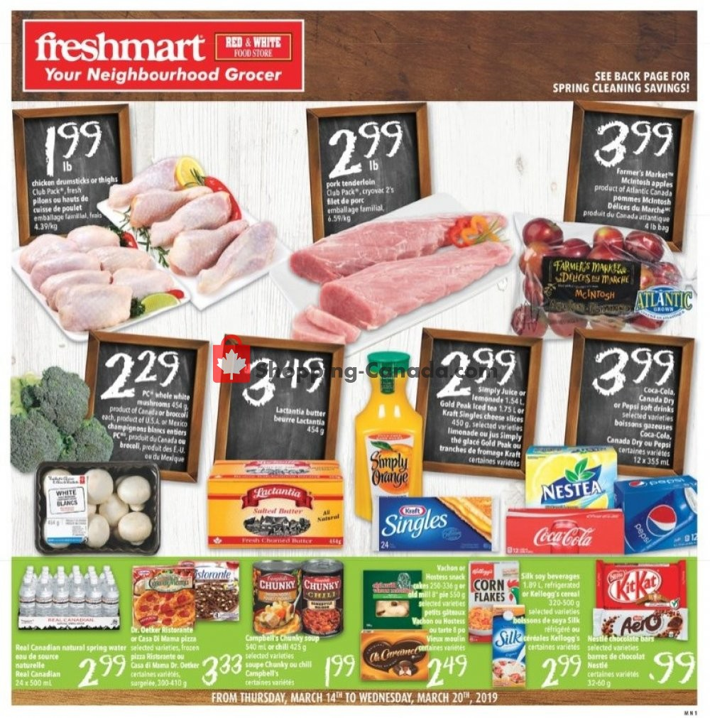 Flyer Freshmart Canada - from Thursday March 14, 2019 to Wednesday March 20, 2019