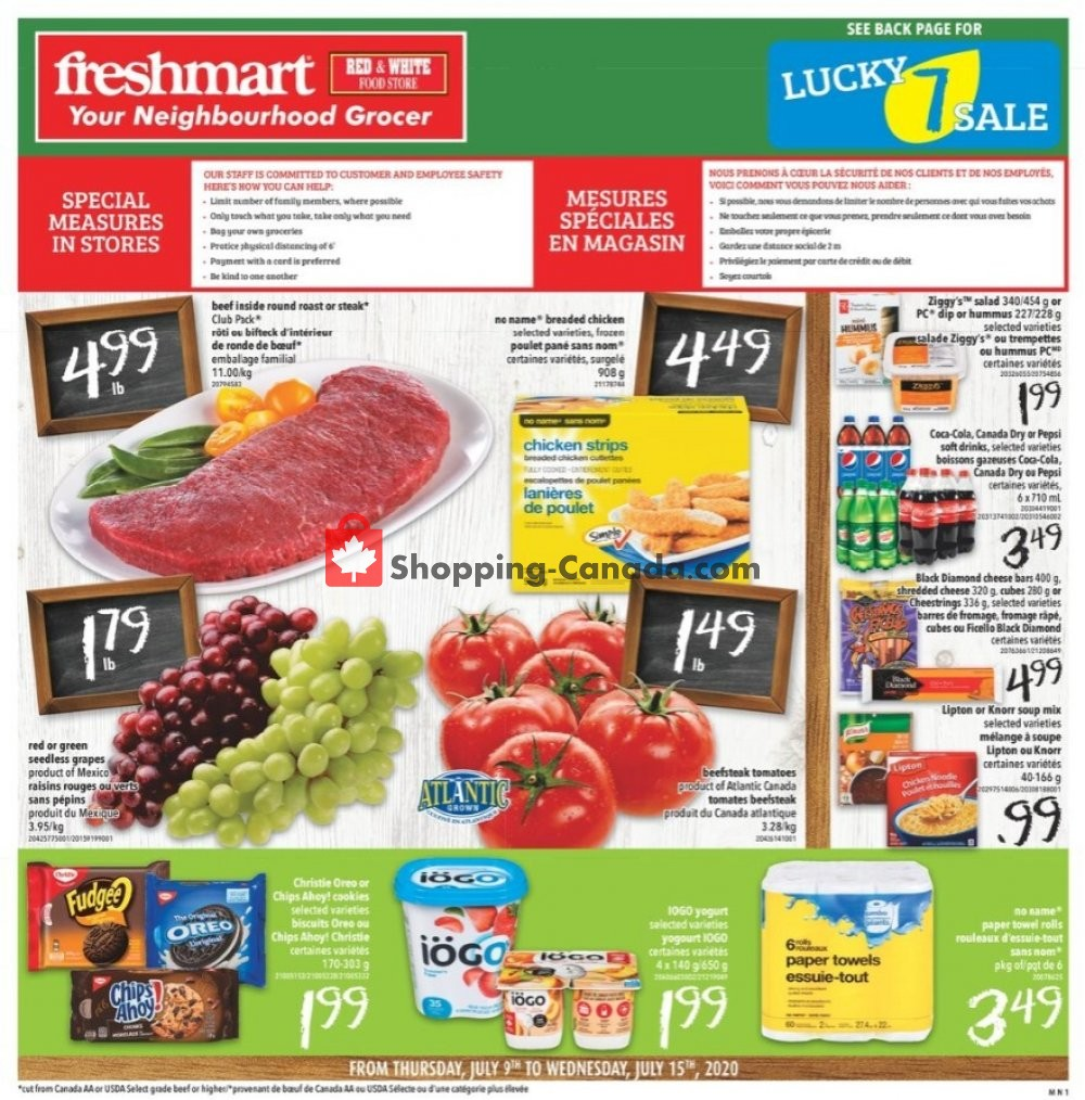 Flyer Freshmart Canada - from Thursday July 9, 2020 to Wednesday July 15, 2020