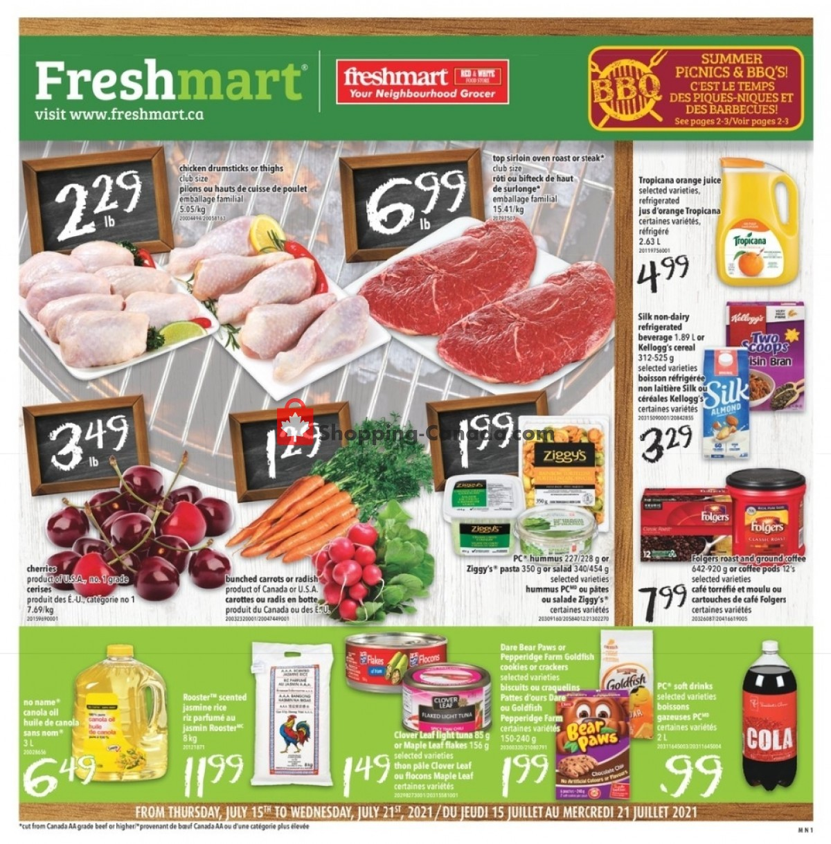 Flyer Freshmart Canada - from Thursday July 15, 2021 to Wednesday July 21, 2021