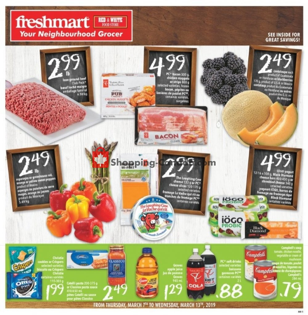 Flyer Freshmart Canada - from Thursday March 7, 2019 to Wednesday March 13, 2019